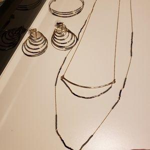 """Stella & Dot """"Prima""""Necklace, Earrings & Bracelet"""